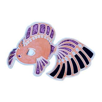 Dream Fish, Geocoin, pink