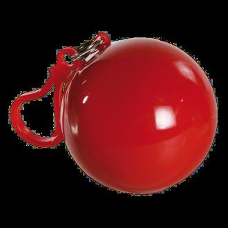 Regenponcho mit Kapuze in Kunststoff-Kugel