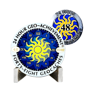 Groundspeak 24 Stunden - 48 Caches - Geo-Achievment Award