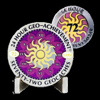 24 Stunden - 72 Caches - Geo Achievement® Award Set