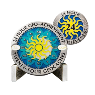 Groundspeak 24 Stunden - 24 Caches - Geo-Achievment Award