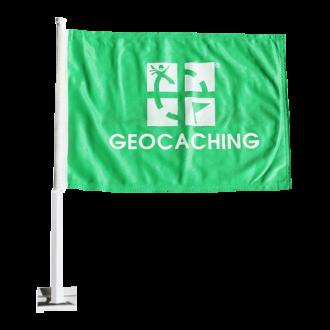 Groundspeak Geocaching Auto-Flagge, grün