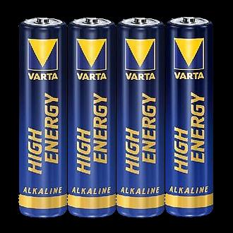"4x Varta Batterie ""High Energy"" AAA (Micro) Alkaline, 1,5V"