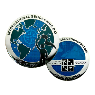 "Groundspeak ""International Geocaching Day"" Geocoin"