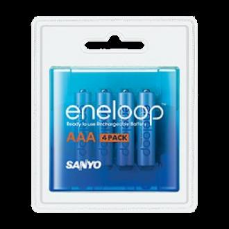"""4 x Sanyo eneloop """"Akku-Batterie"""" AAA (Micro), 800mAh, 1,2V"""