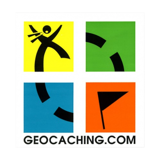 Geocaching-Sticker, 4-farbig