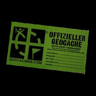 """Groundspeak Sticker """"Offizieller Geocache"""", grün, LARGE"""