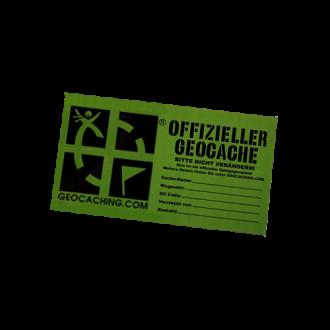 """Groundspeak Sticker """"Offizieller Geocache"""", grün, MEDIUM"""