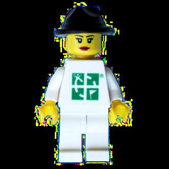 Trackable LEGO Figur, weiblich
