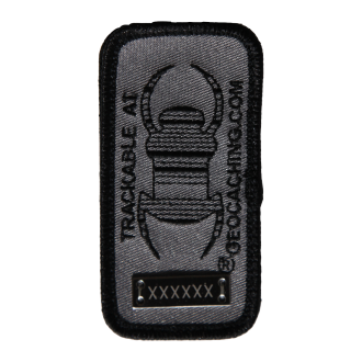 Travel Bug® Patch, Aufnäher, anthrazit