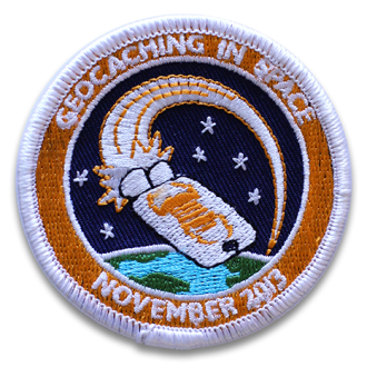 Geocaching in Space Mission Patch, Aufnäher