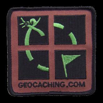 Geocaching Patch, Aufnäher, tarnfarben