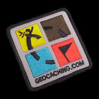 Geocaching Patch, Aufnäher 4-farbig