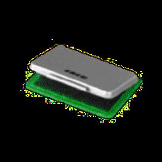 Stempelkissen Metall, 8,5 x 5,5 cm, grün