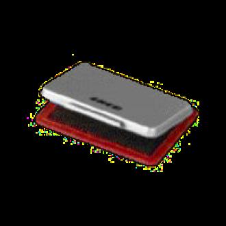 Stempelkissen Metall, 8,5 x 5,5 cm, rot