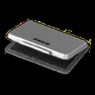 Stempelkissen Metall, 8,5 x 5,5 cm, schwarz