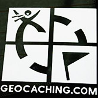 Geocaching Logo, Aufkleber, gestanzt