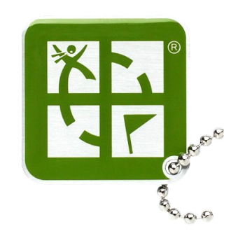 Geocaching-Logo, Travel Tag, grün