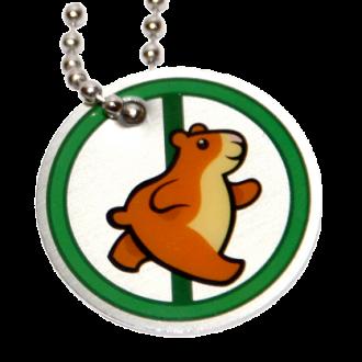 Geocaching Hamster Tag, grün