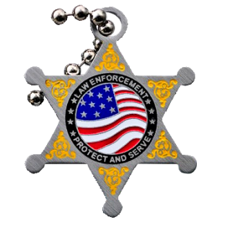 "Groundspeak ""Law Enforcement"" Travel Tag"