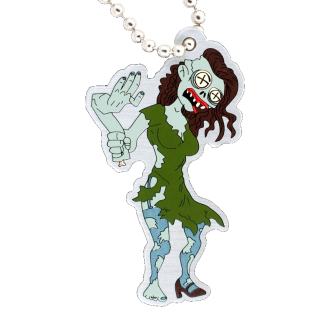 Tiffany the Zombie, Halloween Travel Tag