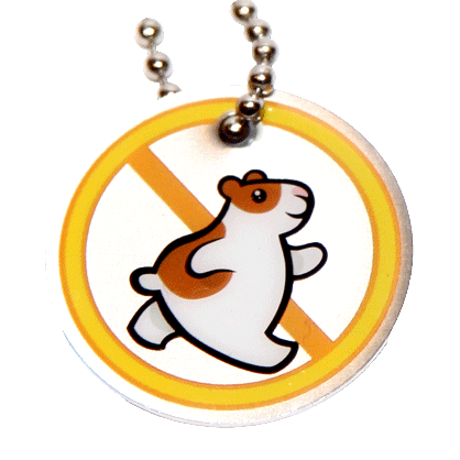 Traveltag hamster Yellow
