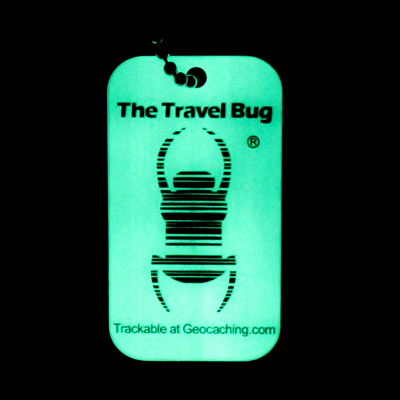 Geocaching QR Travel Bug®, nachleuchtend