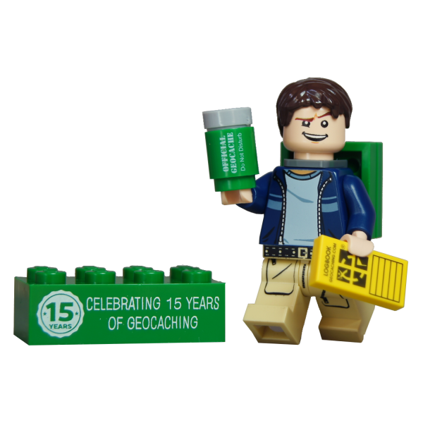 Cache-Hunter mit trackable Legostein