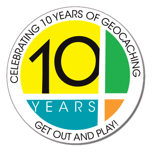 Sticker 10Years Geocaching