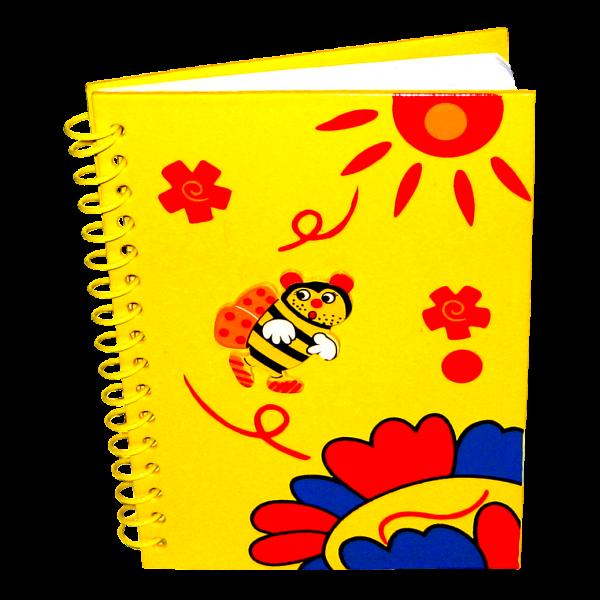 Logbuch mit Aplikation gelb