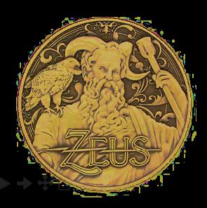 """Griechische Götter Geocoin, """"Zeus"""""""