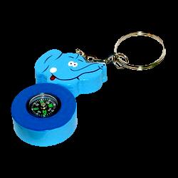 "Kompass-Schlüsselanhänger ""Elefant"", blau"