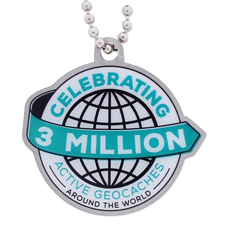 3 Millionen Caches Travel Tag