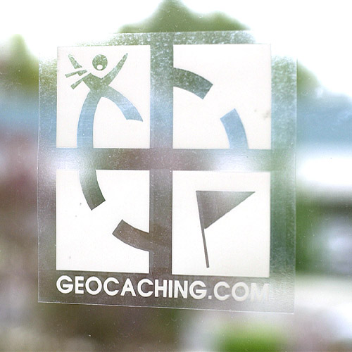 geocaching Logo window cling