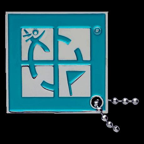 Traveltag Geocaching Logo blau