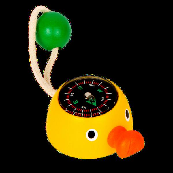 Mini-Kompass, Ente, gelb