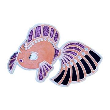 Dream Fish, Geocoin, pink