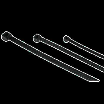 Nylon Kabelbinder schwarz, 10 Stück, 200 x 3,6 mm