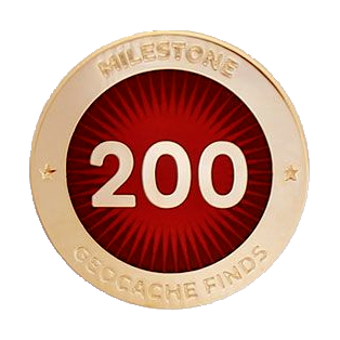 Milestone Pin - 200 Finds