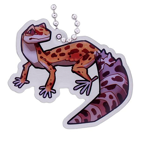 Cricket the Leopard Gecko,Travel Tag
