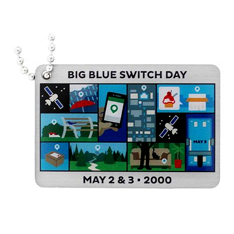 Blue Switch, Travel Tag, Before and After