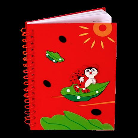 Logbuch mit Aplikation rot