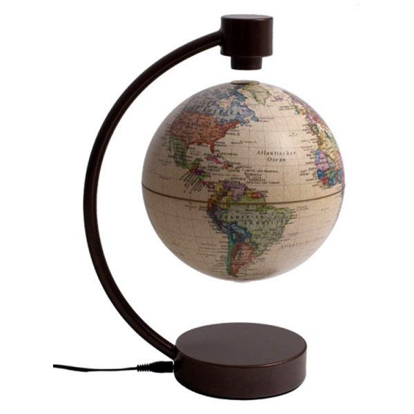 Magnet-Schwebeglobus, 10 cm, ANTIK-DESIGN