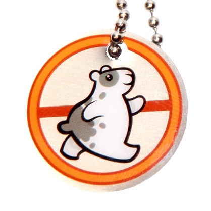 Traveltag hamster orange