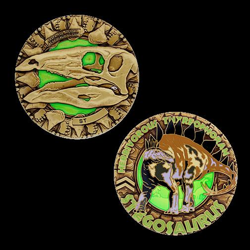 Dinosaurier Coin, Stegosaurus