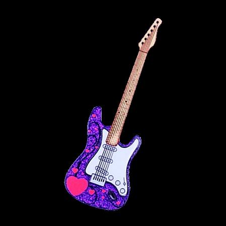 Coin E Gitarre purple