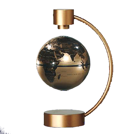 Magnet-Schwebeglobus, 10 cm, GOLD