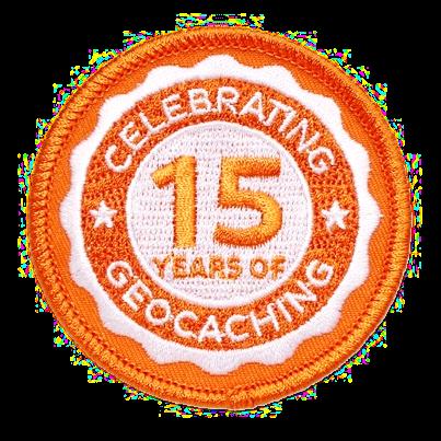 15 Jahre Geocaching, Aufnäher