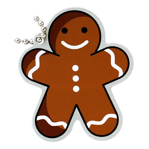Traveltag gingerbread
