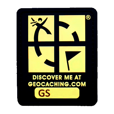 "Geocaching Logo ""Glow In The Dark"", trackable Patch"